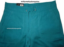 Womens Marks & Spencer Green Linen Wide Leg Trousers Size 8 Short LABEL FAULT