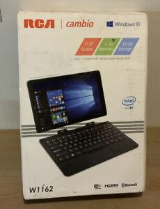 🌍 RCA W1162,2 In 1Tablet W Detachable Keyboard 2GB,32GB Storage Destroyed Box‼️