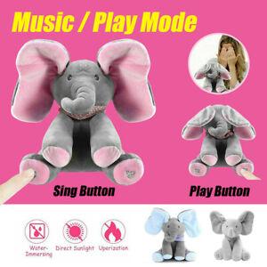 Peekaboo Talking PP Plush Elephant Baby Cotton Doll Soft Singing Stuffed Animals