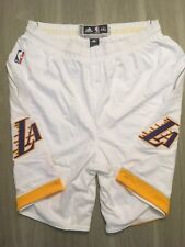 Los Angeles Lakers Game Worn Shorts White Gold 4XL Free Shipping