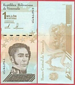 VENEZUELA 1,000,000 BOLIVARES 2020 PNEW BANKNOTE UNC