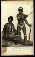 Caribbean Indians natives 1802 breast feeding family ethnic cultural print