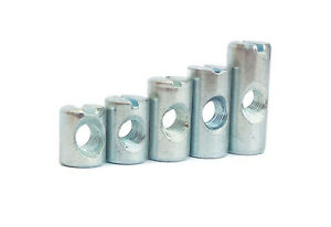 New Replacement M6 Zinc Coated Barrel Nuts for Furniture Beds Tables Desks DIY