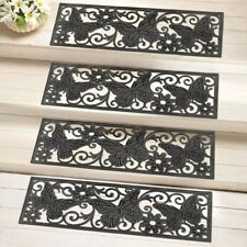 Set of 4 Butterfly Scroll Heavy Duty Rubber Porch Patio Stair Treads