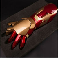 Avengers Iron Man MK42 1:1 Stark Updated Glove LED Light Hand Arm With Laser COS