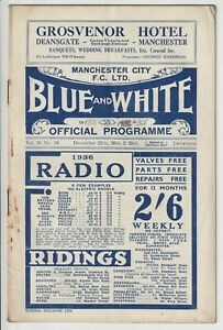 Manchester City V Chelsea Rare Triple Issue Inc Liverpool Res & WBA Res 1935/36