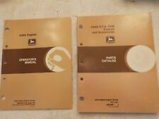 John Deere Parts Catalog And A Operators Manual 6466 engines
