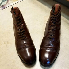 Immaculate 1930's (Dated) Depression Era Brown Captoe Work Boots 7.5