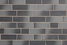 Spaltriemchen NF grau-anthrazit Klinkerriemchen Fassadenkleberiemchen