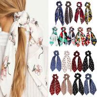 Summer DIY Ponytail Scarf Bow Elastic Hair Rope Tie Scrunchies Ribbon Hair Bands
