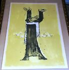 Samy Briss Hand Signed Limited Edition Lithograph on Paper Chabad Rabbi Dancing