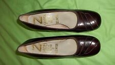 40's / 50's Vintage Wine RED Ladies Pump Shoes - size 4.5 - 23 cm