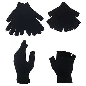 Adults Womens Mens Full Finger Stretchable Magic Gloves
