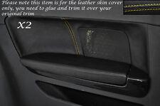 Jaune stitch 2x portes arrière en cuir Garniture carte couvre Fits Audi A3 S3 8P 03-12 3dr