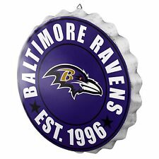 Baltimore Ravens Bottle Cap Sign - Est 1996 - Room Bar Decor NEW 13.5""