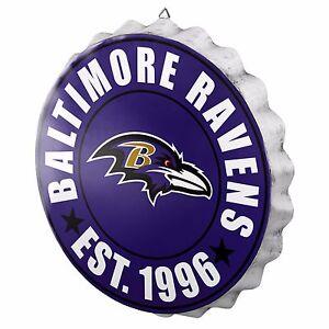 "Baltimore Ravens Bottle Cap Sign - Est 1996 - Room Bar Decor NEW 13.5"""