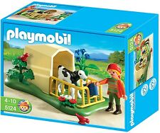 Playmobil Dollhouse Farm 5124 Calf Hutch Baby Cow Feeder Pen NIB Pet Clinic