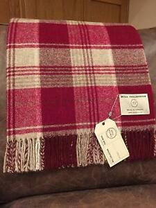 Bronte By Moon 100% Wool Throw Tartan Check Slight Seconds Various Colours
