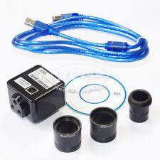 5MP USB FHD Industrial Digital 1X Eyepiece Camera F Stereo Biological Microscope