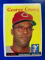 1958 Topps Baseball Card #12 George Crowe