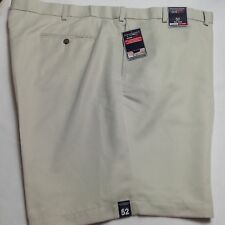 Roundtree &Yorke Men Travel Smart Shorts Flat Microfiber Expander 52 Stone $46
