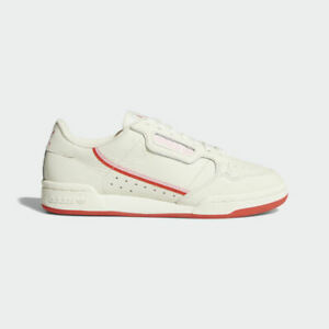 Womens Adidas Originals Continental 80 Trainers Shoes Cream/White/Pink EE3831