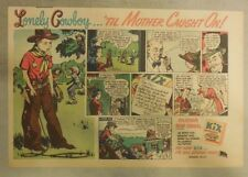 "Kix Cereal Ad: ""Lonely Cowboy"" from 1930's-1940's 7 x 10 inches"