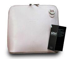 Made In Italy ECHT LEDER Tasche Handtasche Vera Pelle Clutch Handtasche Rosa