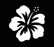 Hawaiian Hibiscus Flower Vinyl Car Decal Sticker Window Truck Laptop White