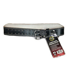 Gold's Gym Padded Leather Belt Weight Lifting Workout Gym Training Exercise L
