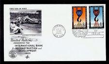 Fdc Un New York #86 #87 International Bank 4c 8c Artcraft U/A First Day 1960