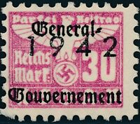 Stamp Germany Revenue Poland WWII 1942 3rd Reich War Era Party Due GG 03.0 MNG