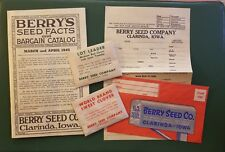 1945 Berry Seed Co. Catalog~original Seed Packets included LOOK  Clarinda Iowa