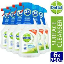 6 x Dettol Anti-Bacterial Surface Cleanser Spray Lime and Mint 750ml