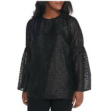MICHAEL Michael Kors Plus Size Bell Sleeve Jacquard Tunic. Size 1X. $140.00