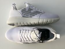 EMPORIO ARMANI EA7 White Trainers Sneakers Shoes Large Logo UK 5.5-11.5 BNWT/BOX