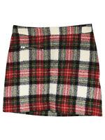 Bonpoint Tartan Wool Mini Skirt