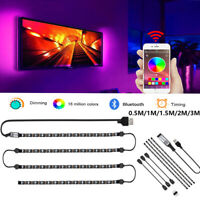 5V USB LED Strip Light RGB 5050 TV Backlight COLOUR CHANGING Bluetooth APP Music