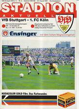 BL 87/88 VfB Stuttgart - 1. FC Köln