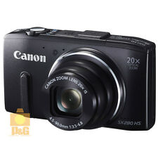 NEW BOXED CANON POWER SHOT SX280 HS 12.1MP GPS DIGITAL CAMERA / BLACK