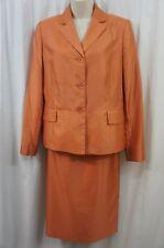 Suit Studio Skirt Suit Sz 10 Orange Shimmer Career Business Skirt Suit