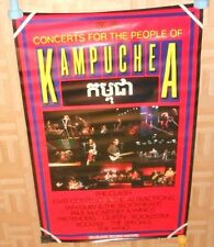The Clash Queen Pretenders Kampuchea Concert for the People Promo Poster 30x48