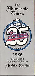 1986 Minnesota Twins 25th Anniversary Media Guide