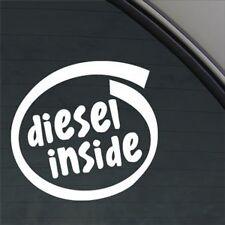 White Diesel Inside Decal Sticker Fuel Lid Tata Indica Vista Indigo Manza Safari