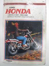 HONDA  CB550 & 650 1983-1985 CLYMER SERVICE-REPAIR MANUAL 289 PAGES guidebook