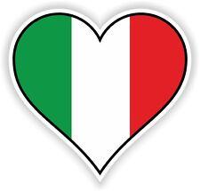 ITALY HEART vinyl STICKER bumper decal GIFT LOVE FLAG BIKE MOTO LAPTOP TABLET