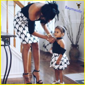 Mutter und Tochter Baumwolle Kleidung Eltern-Kind-Kleid Familie passende Outfits
