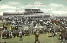 Horse Racing Ghrand Stand Epsom Downs c1910 Postcard