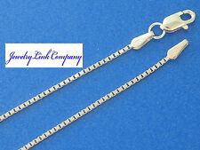 """14K Solid White Gold 0.9mm Box Chain w/ Lobster Clasps 20"""" 3.4grams"""