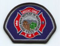 Dupont Fire Department Medic One EMT EMS Patch Washington WA Gray